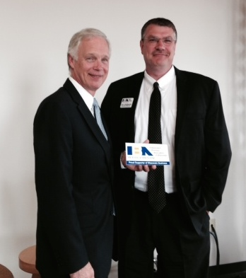 Senator Ron Johnson with Steve Kohlmann